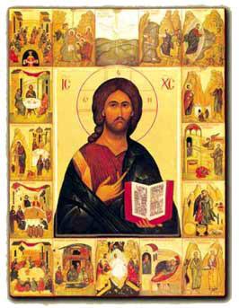 Icona di Cristo e dei Sette Sacramenti