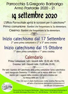 Locandina Catechismo, fai clic per ingrandirla